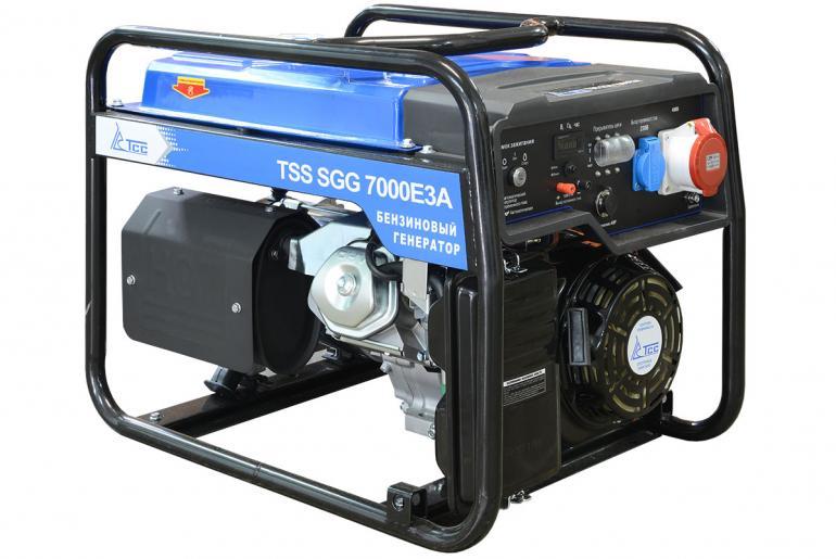 Фото Бензиновый генератор TSS SGG 7000 E3A  7/8кВт 220/380в 90кг