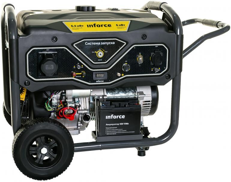 Фото Inforce Генератор бензиновый GL 6500 04-03-15