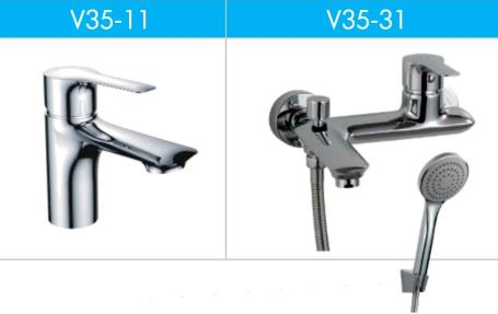 Фото Набор смесителей для ванной и умывальника Rossinka V V35-31 и V35-11 (V35Compl)