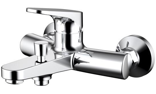 Фото Смеситель для ванны c коротким изливом Bravat Eler (F6191238CP-01-RUS)