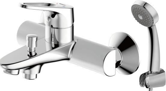Фото Смеситель для ванны с коротким изливом с аксессуарами Bravat Drop-D (F648162C-B-RUS)