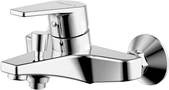 Фото Смеситель для ванны с коротким изливом с аксессуарами Bravat Stream-D (F637163C-B)