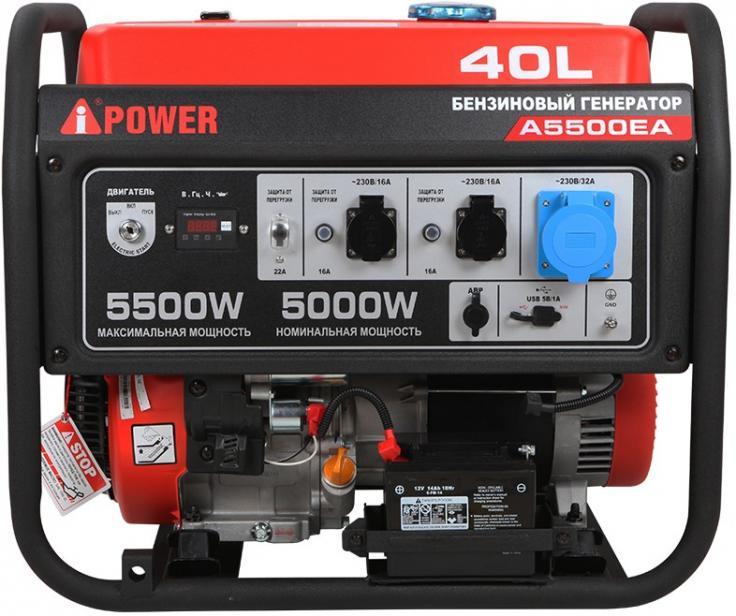Фото Портативный бензиновый генератор A-iPower A5500EA
