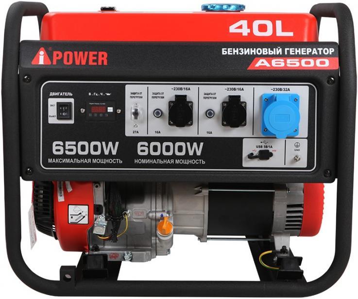 Фото Портативный бензиновый генератор A-iPower A6500