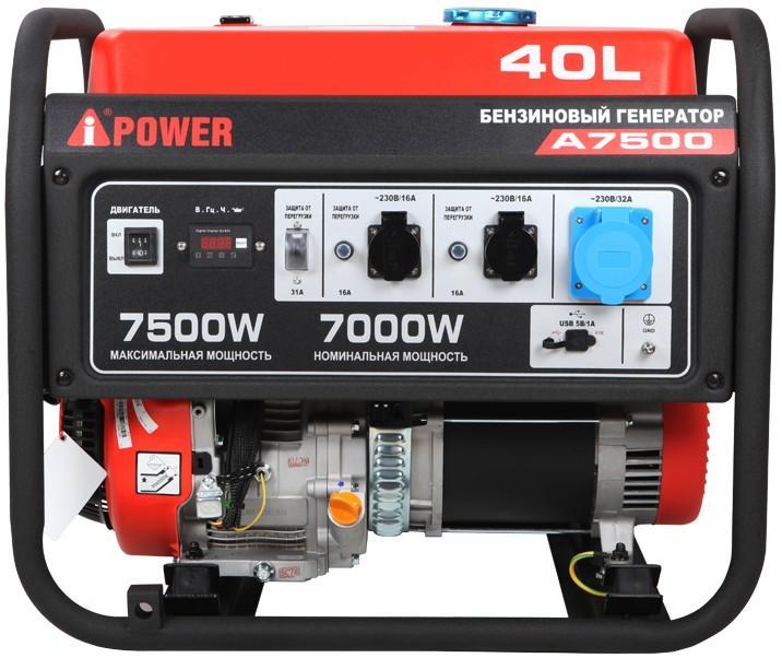 Фото Портативный бензиновый генератор A-iPower A7500