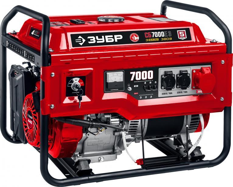 Фото Бензиновый генератор ЗУБР СБ-7000Е-3 с электростартером