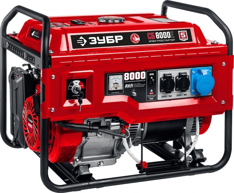 Фото СБ-8000 бензиновый генератор, 8000 Вт, ЗУБР