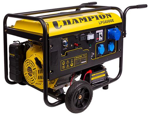 Фото Бензиновый генератор CHAMPION LPG6500E