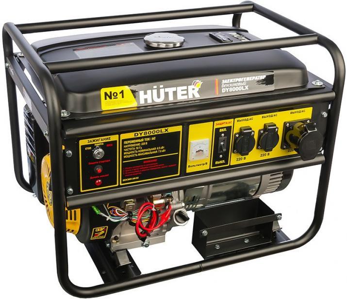Фото Бензиновый генератор Huter DY8000LX (6500 Вт)