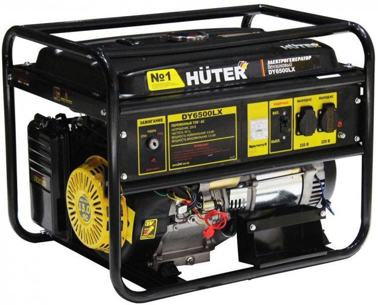 Фото Бензиновый генератор Huter DY6500LX (5000 Вт)