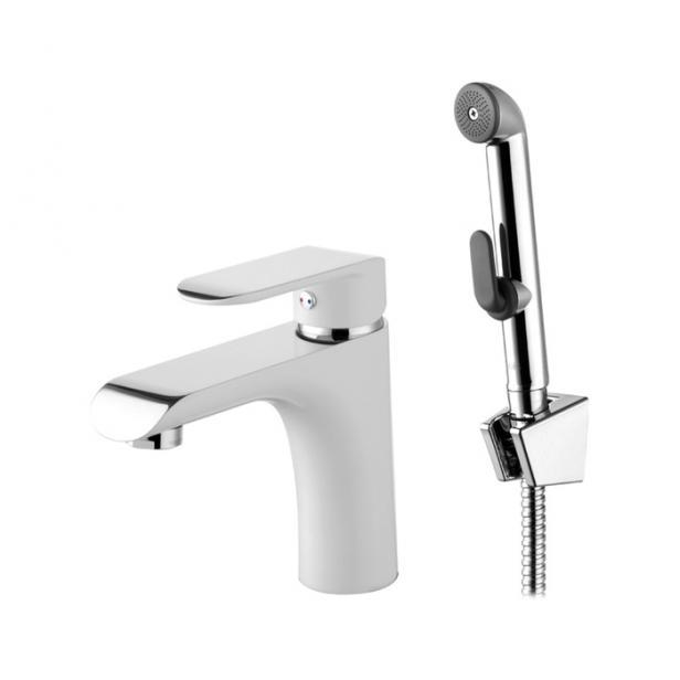 Фото Смеситель для раковины с гигиеническим душем IDDIS Calipso (CALSB00i08)